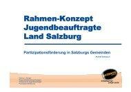 Rahmen-Konzept Jugendbeauftragte Land ... - Akzente Salzburg