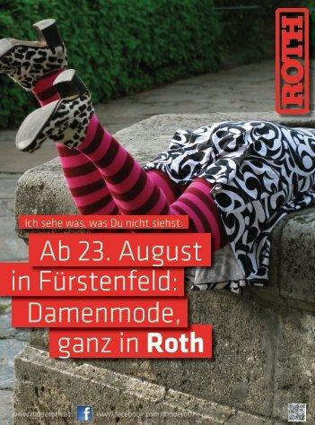 ganz in Roth Damenmode, in Fürstenfeld: Ab 23 ... - Modehaus Roth