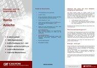 Gewinnen auch im Seitwärtstrend Itonia Anleihe - Börse Stuttgart