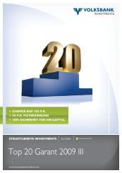 Top 20 Garant 2009 III - Volksbank Wien AG