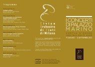 P rogramma - Comitato Amici della Banda del Comune di Milano