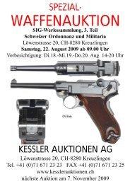 Schweizer Ordonnanz und Militaria - Kessler Auktionen GmbH