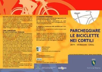 Parcheggiare le Biciclette nei cortili - Città di Torino