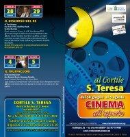 Programma cinema all'aperto - Cortile S. Teresa - Sezione Lega ...