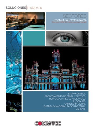 Catálogo Soluciones Audiovisuales ... - Comm-Tec
