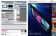 PIONEER PDP Features - Plasma TV Buying Guide