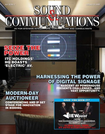 January 2009 - Sound & Communications