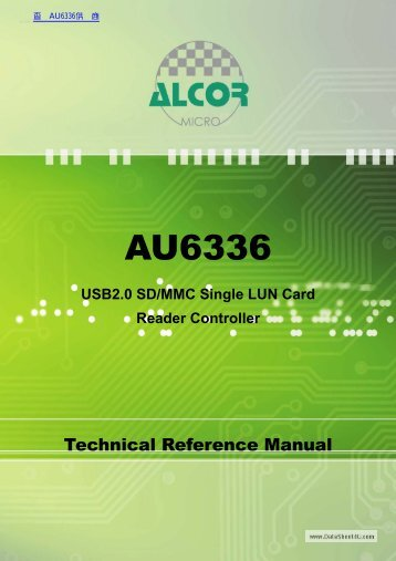 AU6336 USB2.0 SD/MMC Single LUN Card Reader Controller