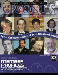 Member Profiles - Alcor Life Extension Foundation