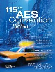 web quality - Audio Engineering Society