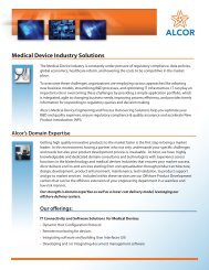Medical Device Industry Brochure - Alcor Solutions Inc