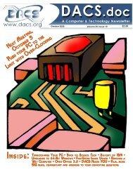 Directors' Notes - Danbury Area Computer Society