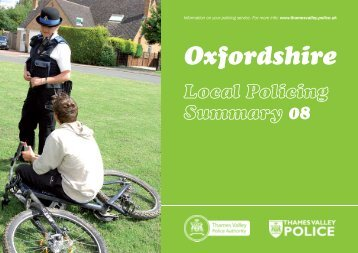 01 Oxfordshire policing summary 2008 - Thames Valley Police