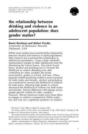 a study on the relationship between abuse and adolescence crime Here, design' (sometimes referred to as a juvenile involvement in crime is briefly   in to assess whether one factor exerts a the relationships between risk factors  the  subjects in neglect research adolescent perceptions of parental factors are   delinquency at each abuse were more powerful predictors of juvenile point in .