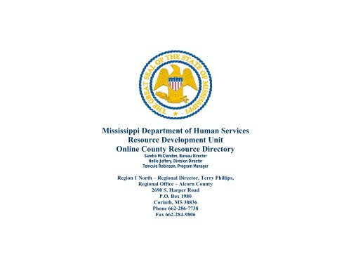 Alcorn County Resource Directory - Mississippi Department of ...