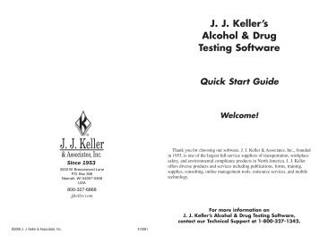 JJ Keller's Alcohol & Drug Testing Software Quick Start Guide ...