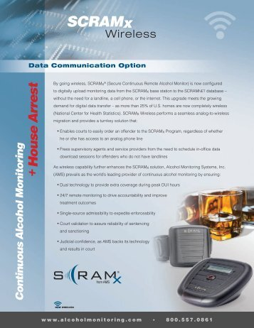 SCRAMx - Alcohol Monitoring Systems