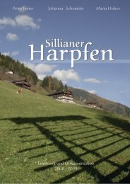 Dokumentation - Teil 1 - Marktgemeinde Sillian