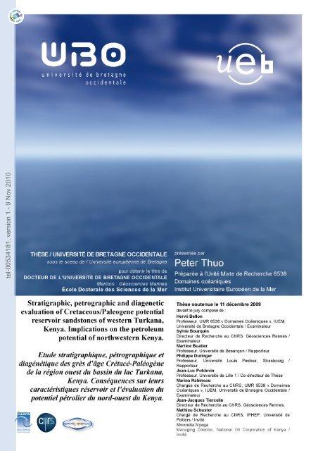 Etude stratigraphique, pétrographique et diagénétique des grès d ...
