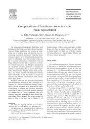 Complications of botulinum toxin A use in facial rejuvenation