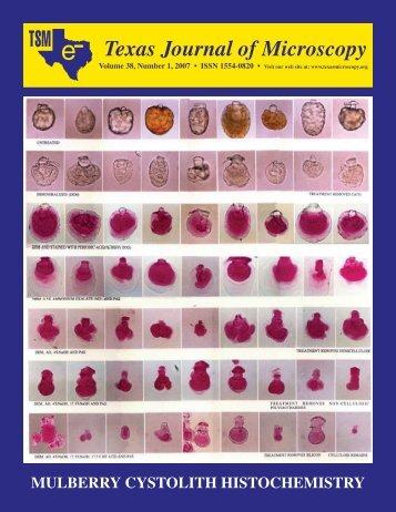 Texas Journal of Microscopy - Texas Society for Microscopy