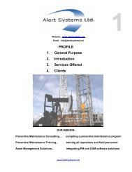 PROFILE 1. General Purpose 2. Introduction 3 ... - Alert Systems Ltd