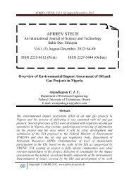 AFRREV STECH, Vol. 1 (3) August-December, 2012