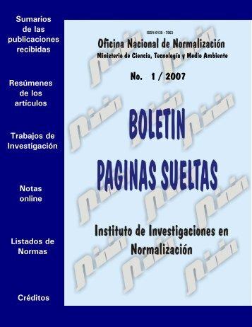 No. 1 / 2007 - Boletín Páginas Sueltas
