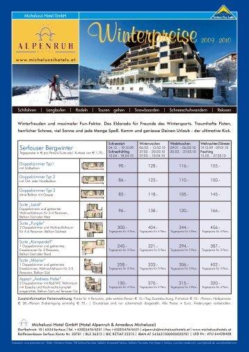 Serfauser Bergwinter - Hotel Alpenruh