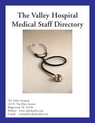 The Valley Hospital Medical Staff Directory - Valley Health System ...