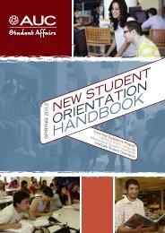 Orientation Handbook - The American University in Cairo