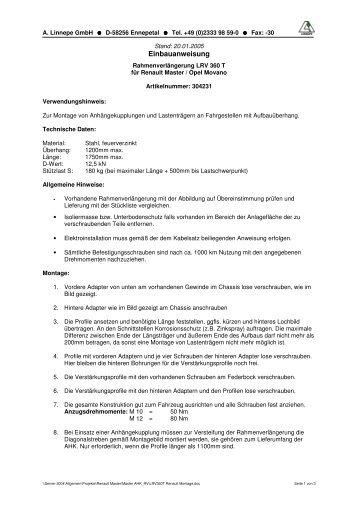 LRV360T Renault Montage - A. Linnepe GmbH