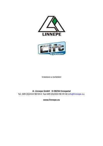 Instalace a ovládání A. Linnepe GmbH D-58256 ... - Karavan.cz