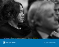 network discover understand interact debate - Chatham House