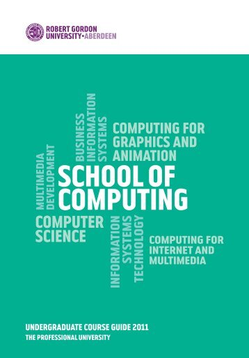 ug brochure.pdf - School of Computing - Robert Gordon University
