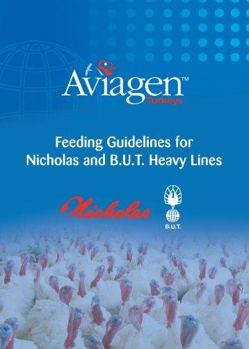 Feeding Guidelines for Nicholas and B.U.T. ... - Aviagen Turkeys