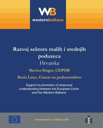 Razvoj sektora malih i srednjih poduzeca Hrvatska - Western ...