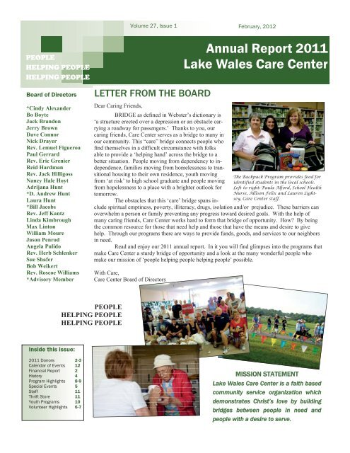 Lake Wales Care Center >> Annual Report 2011 Lake Wales Care Center