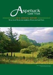 2010 ANNUAL REPORT - Aspetuck Land Trust