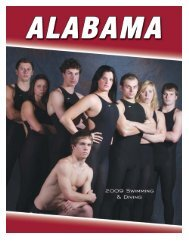 Swimming and Diving Support Staff - University of Alabama