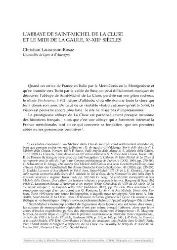 Saint-Michel de La Cluse - Centre lyonnais d'Histoire du droit et de