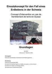 Einsatzkonzept für den Fall eines Erdbebens in der Schweiz ... - NAZ
