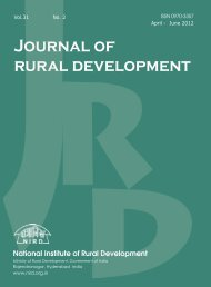 contents - National Institute of Rural Development