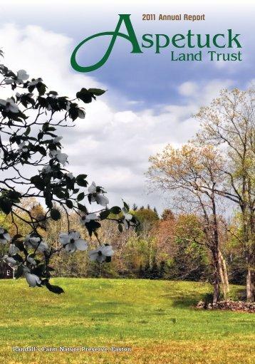 2011 Annual Report - Aspetuck Land Trust