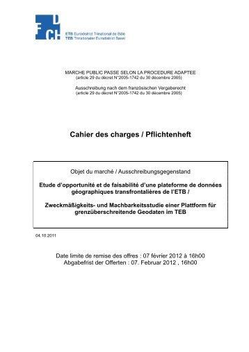 Cahier des charges / Pflichtenheft