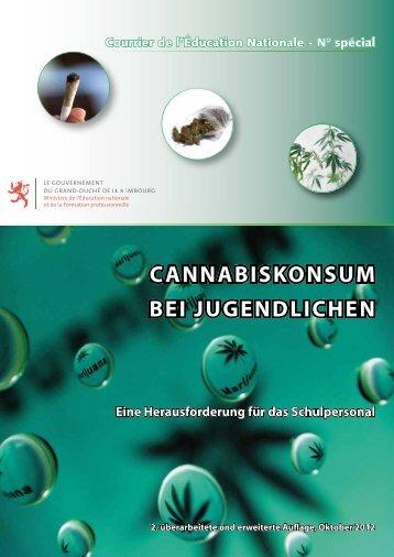 cannabiskonsum bei jugendlichen - Ministère de l'éducation ...