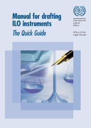 Manual for drafting ILO instruments - International Labour Organization