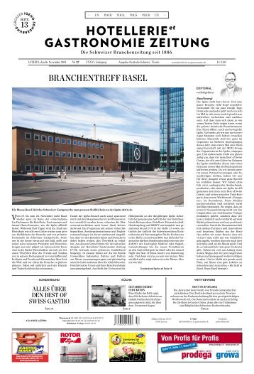 BrAnchentreff BAsel - Hotel & Gastro Union