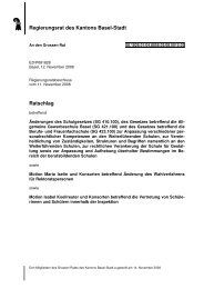 Regierungsrat des Kantons Basel-Stadt Ratschlag - Grosser Rat ...