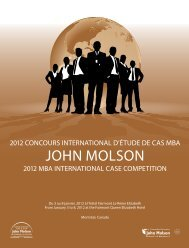 Faculty of Business - John Molson MBA International Case ...